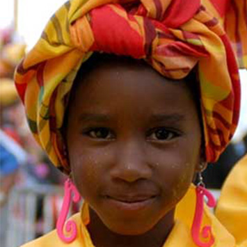 Child in Traditional African Attire