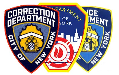 City of NY Department of Corrections, New York City Fire Department, New York City Police Department