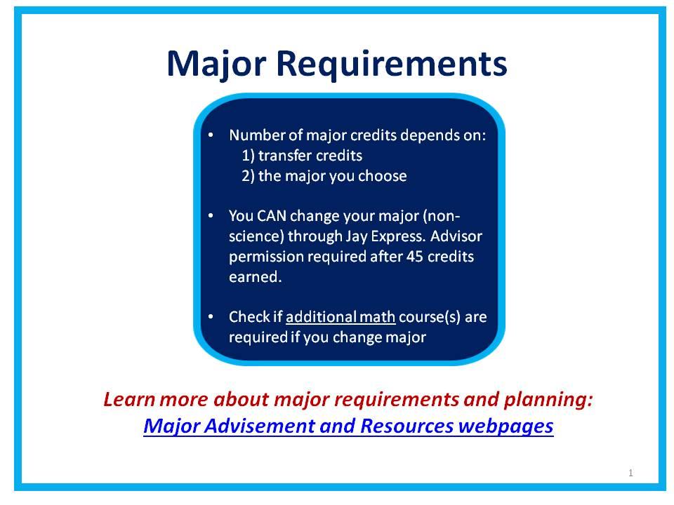 CJA Major Requirements