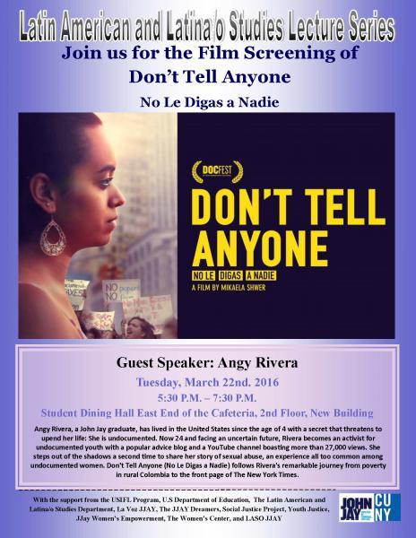 Film screening of Don't Tell Anyone