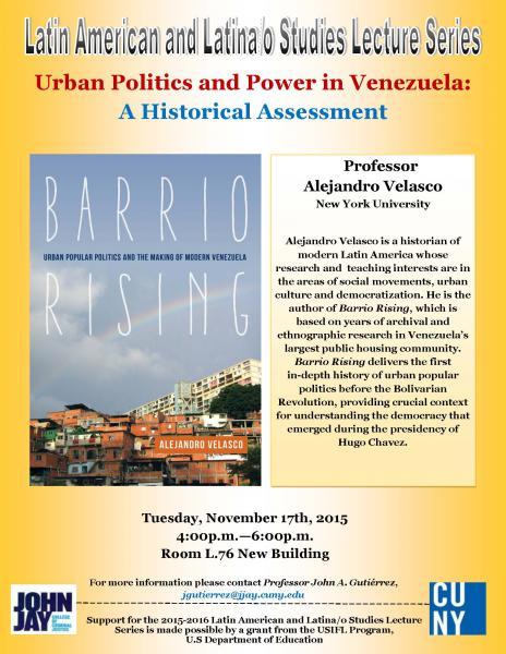 Urban Politics and Power in Venezuela: A Historical Assessment