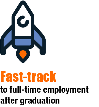 Fast track to full-time employment after graduation