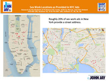 Sex Work Locations as Provided in NYC Ads
