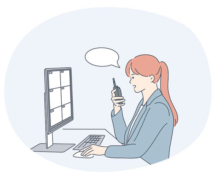 woman working as a security dispatcher