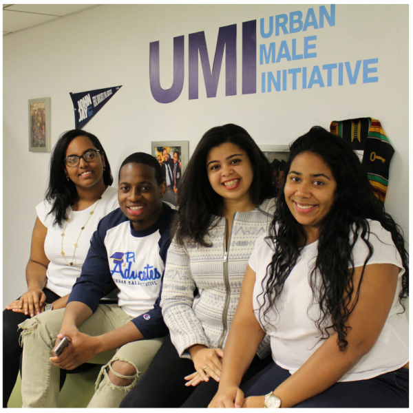 Meet the UMI Team: from left, Yuleisy M. Audain, Sean Serrano, Maria Vidal, and Angelie Chaljub.