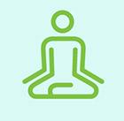 Meditating figure