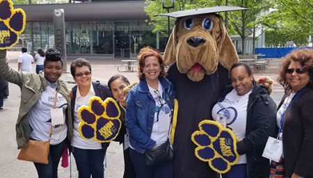 Human Resources staff at the Commencement 2017 at Arthur Ashe Stadium