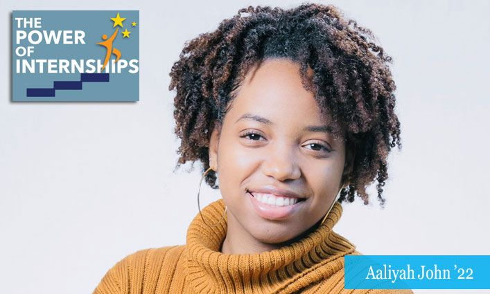 The Power of Internships: Aaliyah John '22 Aims to Expand Her Programming and Cybersecurity Skills