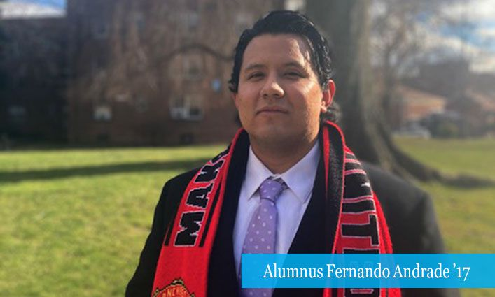 Alumnus Fernando Andrade '17 Advocates for Immigrants Through His Work with New York Legal Assistance Group