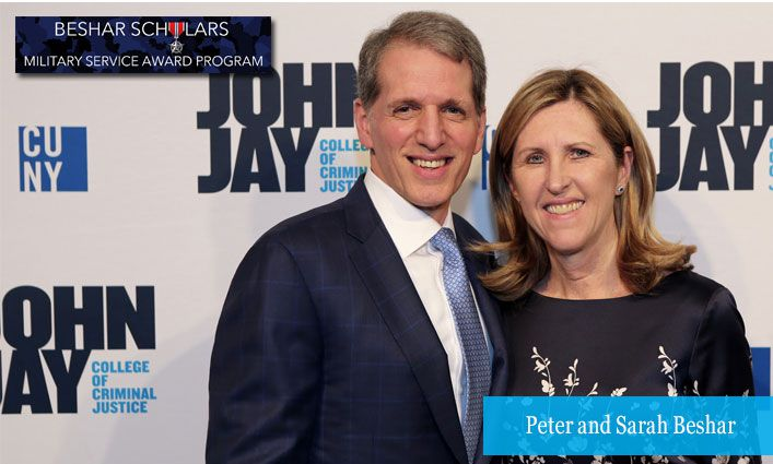 Peter and Sarah Beshar Create the Beshar Scholars Military Service Award to Support John Jay Veteran and Military Students