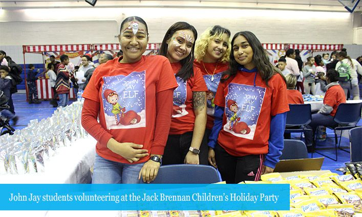 Celebrating at the 38th Annual Jack Brennan Children's Holiday Party
