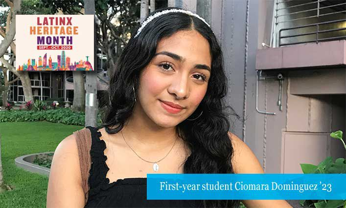 First-Year Focus: Hawaii-native Ciomara Dominguez '23 Tackles Her First Semester with a Six-Hour Time Difference