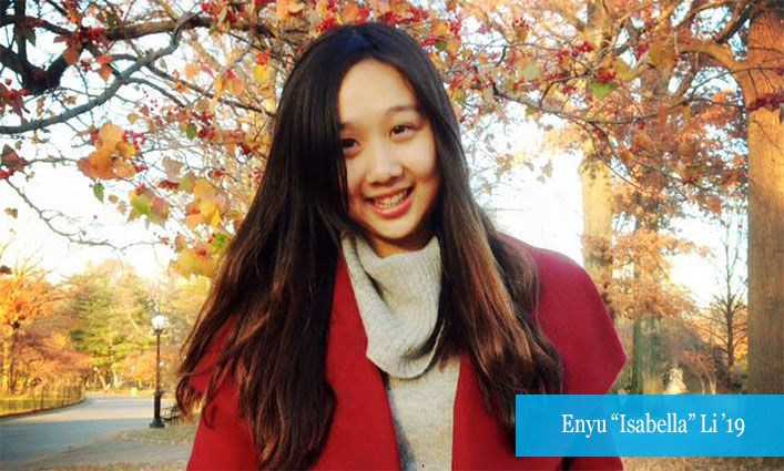 """Alumna Enyu """"Isabella"""" Li '19 Credits John Jay and Proskauer with Helping Her Achieve Her Law School Dreams"""