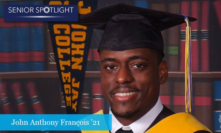 Senior Spotlight: After Overcoming Cancer, John Anthony François '21 Heads to Stanford University with the Goal of Improving Cancer Treatment Outcomes