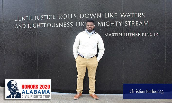 Honors 2020 Alabama Civil Rights Trip: A Letter to MLK from Christian Bethea '23