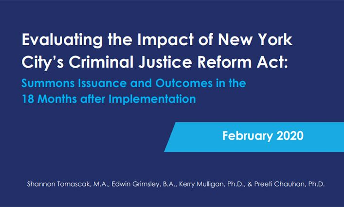 New York City Experiences 94% Decline In Criminal Summonses After Criminal Justice Reform Act (CRJA)