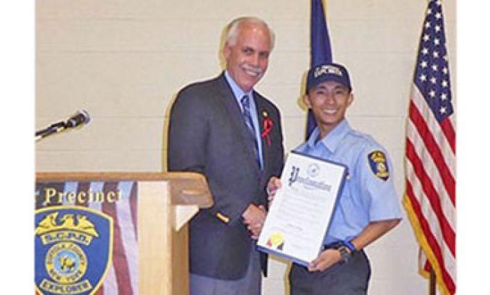 Police Explorer Student Earns National Honors   John Jay
