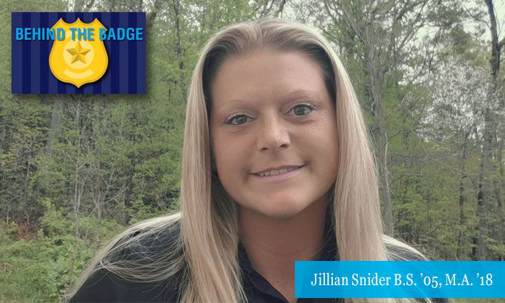 Behind the Badge: Jillian Snider B.S. '05, M.A. '18 NYPD Retired Police Officer, Adjunct Lecturer