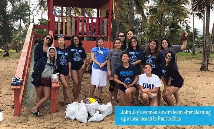 The Women's Swim Team Strengthens Their Bond In Puerto Rico