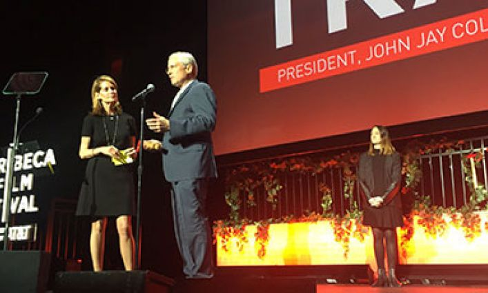 President Travis Receives Tribeca Disruptive Innovation Award