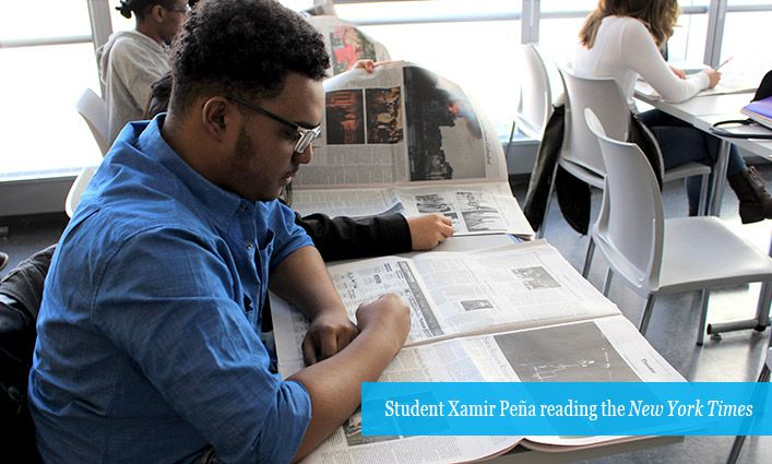 """Students Expand Their World View Through Weekly """"Times Talk"""""""