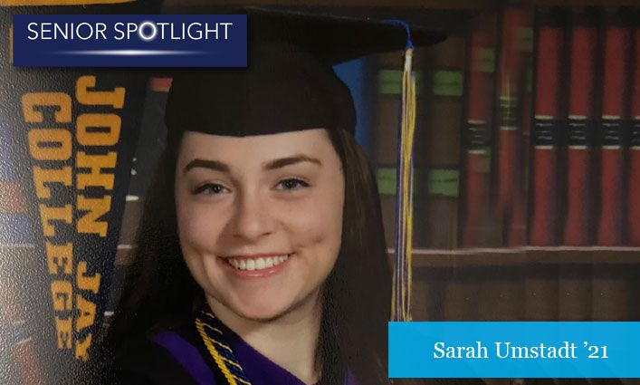Senior Spotlight: Sarah Umstadt '21 Gets Accepted into Law School After a Year-Long Research Project and Prestigious Judicial Internship
