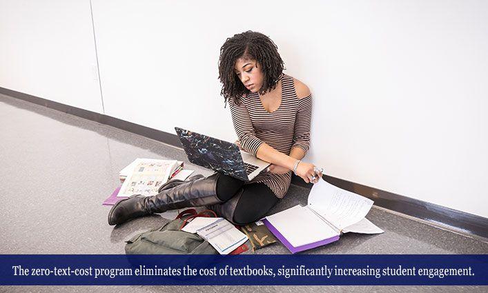 Zero-Text-Cost Courses Ease Financial Burdens