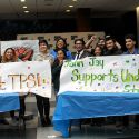 Immigrant and Undocumented Allies Leave their Mark of Support